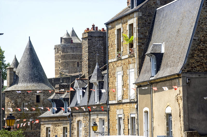 Download Fougeres - Castle stock photo. Image of flags, color - 27057642