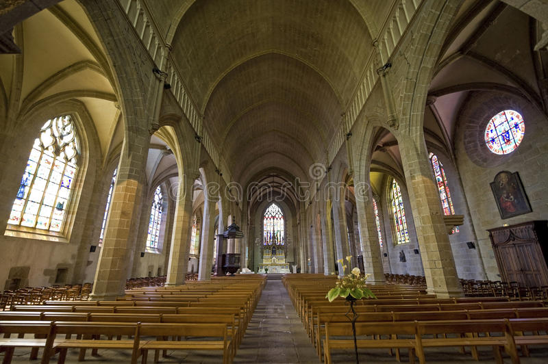 Download Fougeres - Church stock photo. Image of medieval, colonnade - 27057638