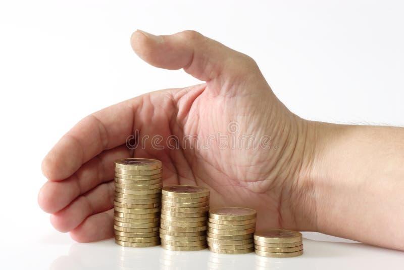Fouillage d'argent photographie stock libre de droits