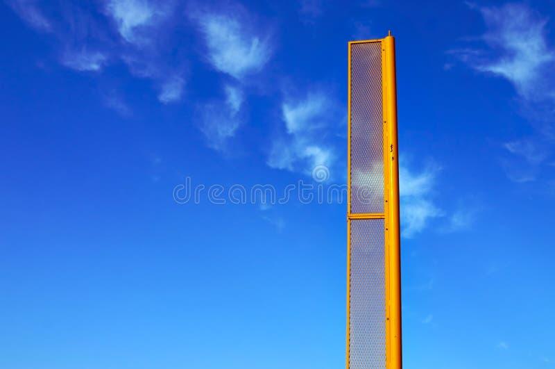 Foul/Fair Pole stock photo