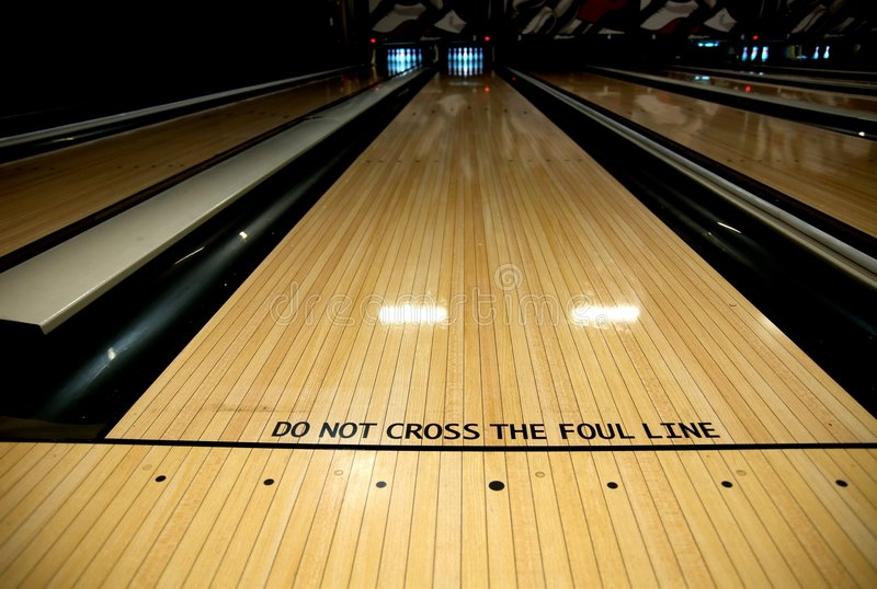 Foul Line At Bowling Alley Stock Image Image Of Alley