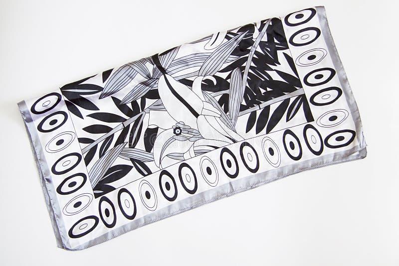 foulard in bianco e nero su bianco fotografia stock