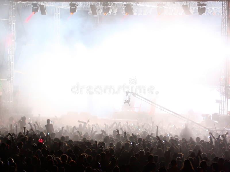 Foule à un concert image libre de droits