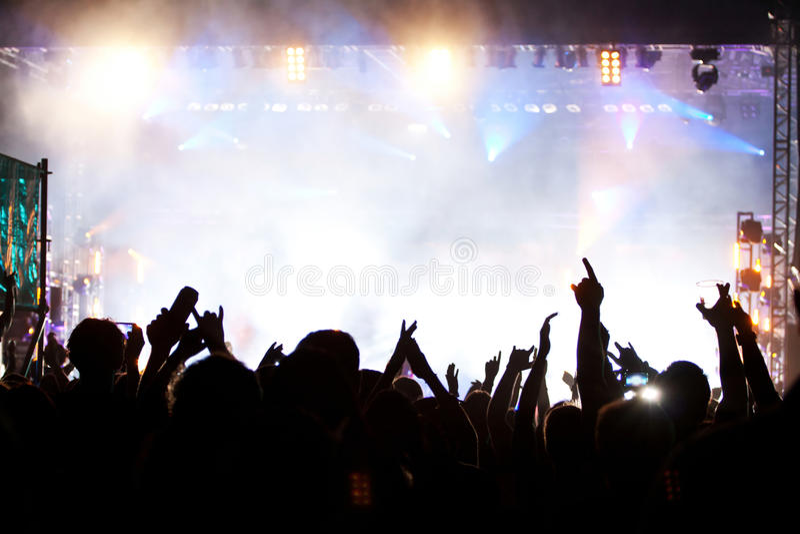 Foule au concert image libre de droits