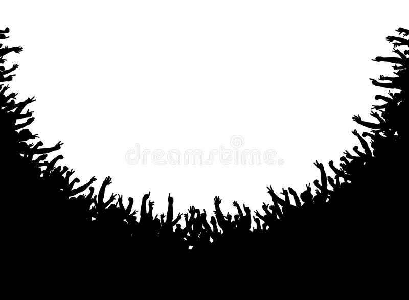 foule d'amphithéâtre illustration libre de droits