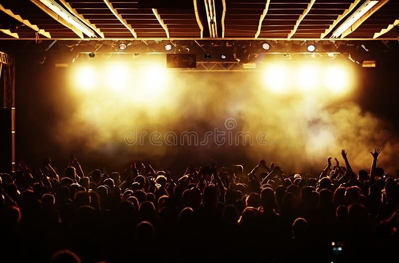 Foule de concert photos stock