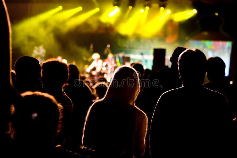Foule de concert photographie stock libre de droits