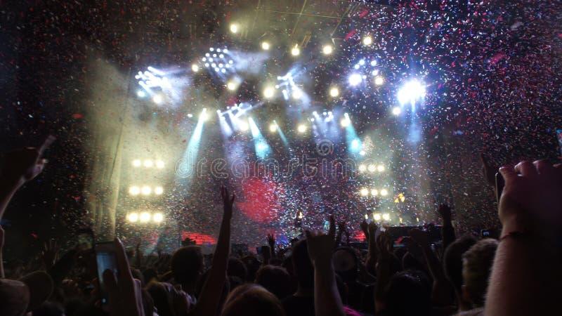 Foule de concert Santiago Chile 2012 images libres de droits