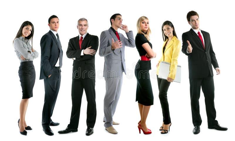 Foule de groupe de gens d'équipe d'affaires intégrale image libre de droits