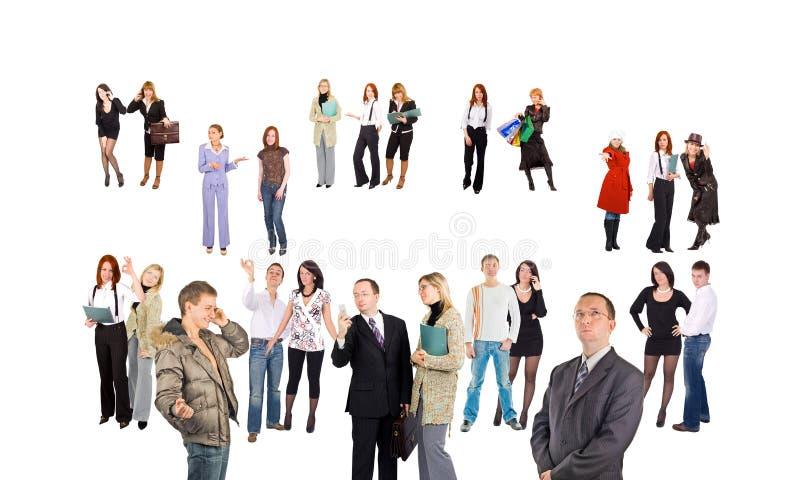 Foule de petits groupes et de gens simples photos stock