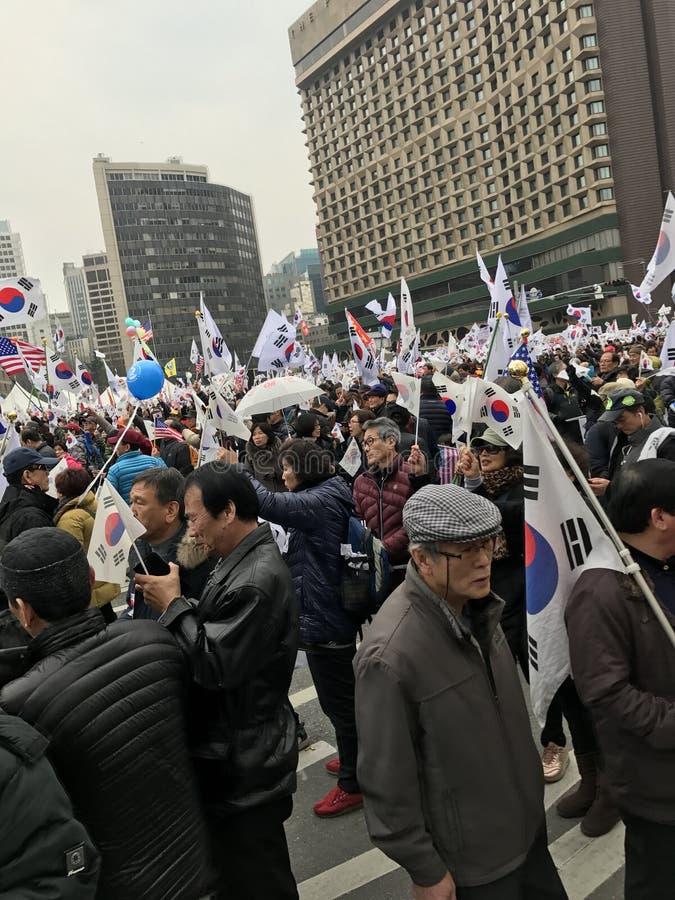 Download Foule De Sud-Coréens Protestant Dans La Ville Hall Square Photo stock éditorial - Image du séoul, positif: 87709113