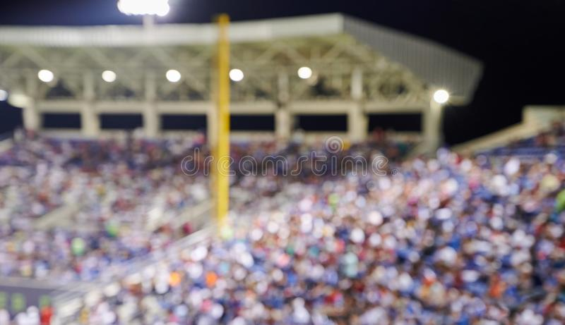 Foule des fans sur le stade de base-ball images stock