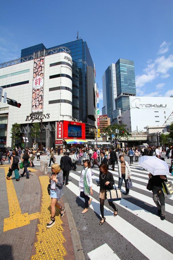 Foules à Tokyo photo libre de droits