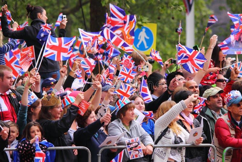 Foules au mariage royal 2011 photo libre de droits
