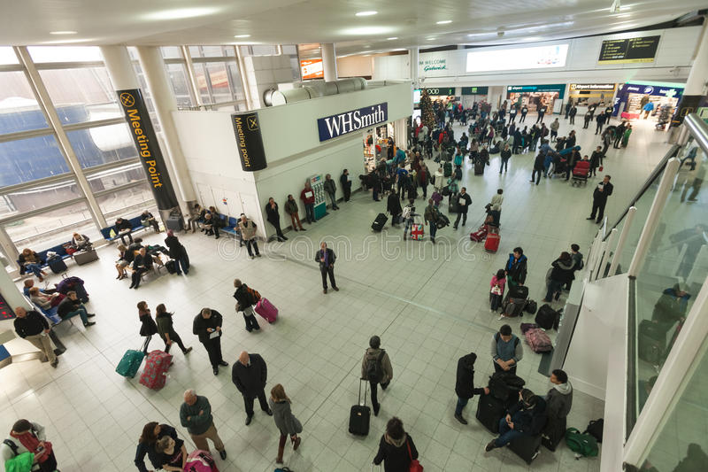 Foules d'aéroport photos libres de droits