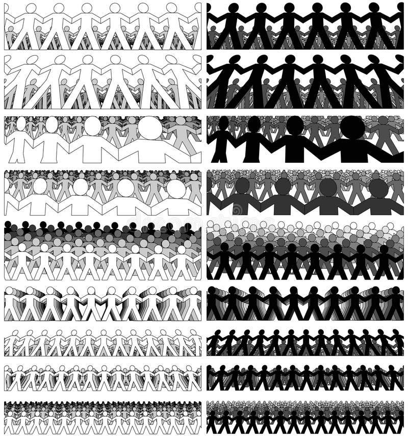 Foules de papier illustration stock