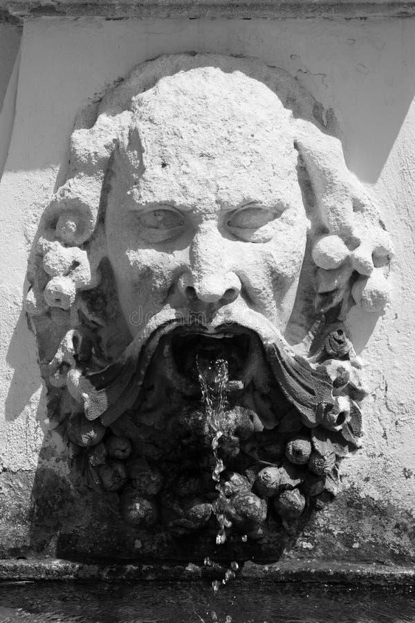 Founain de la piedra de la cara foto de archivo libre de regalías