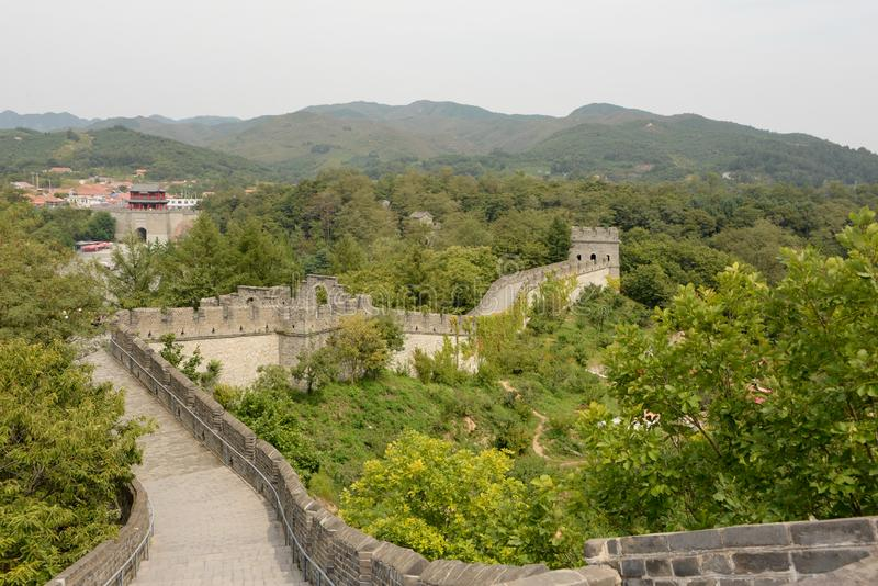 Found the Hushan site, the Great Wall extended 1000 kilometers. The Great Wall in mainland China is a military facility against foreign invasion. In the last royalty free stock image