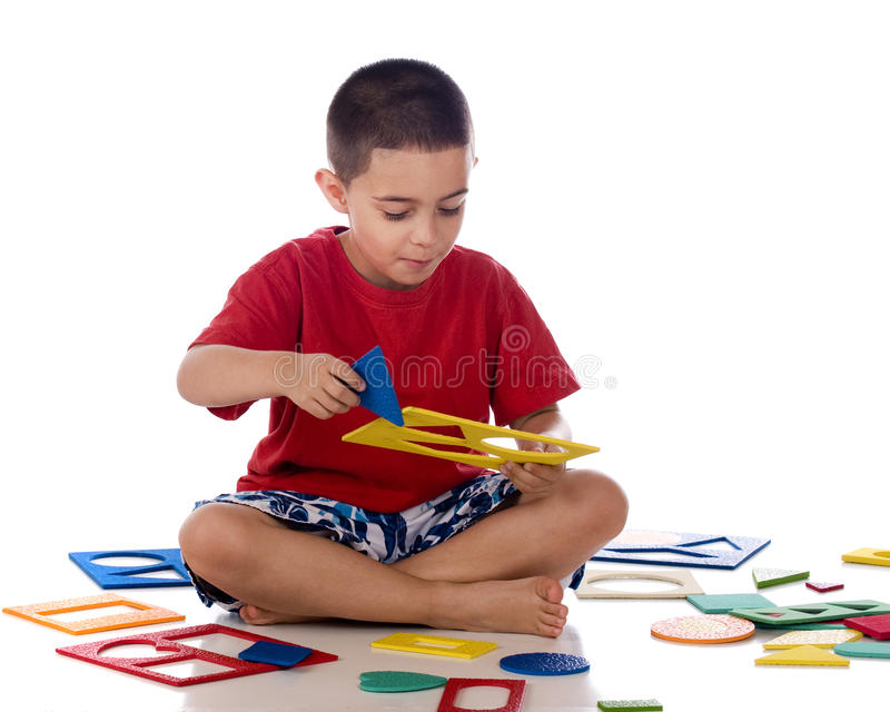 Download Found the Piece stock image. Image of child, feet, playing - 15333771