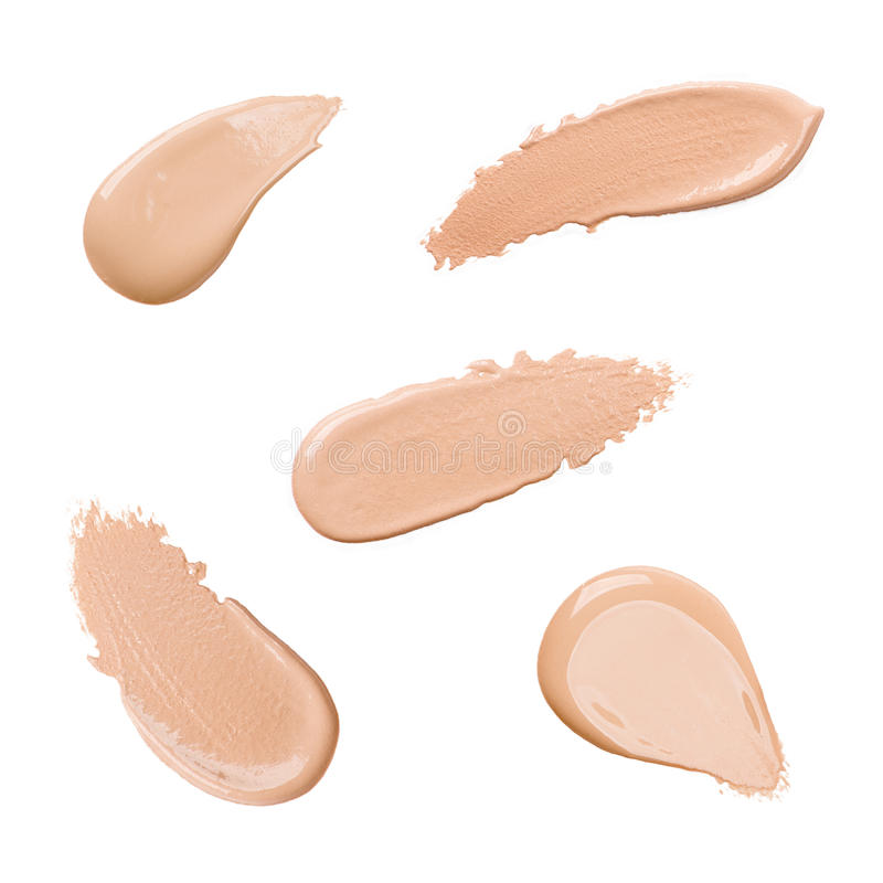 Foundation color sample. On white background stock photos