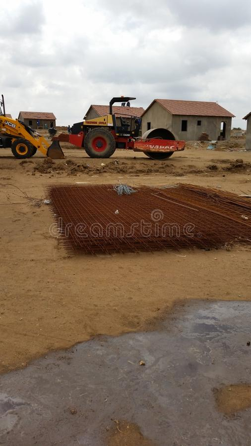 Foundation excavations royalty free stock photography