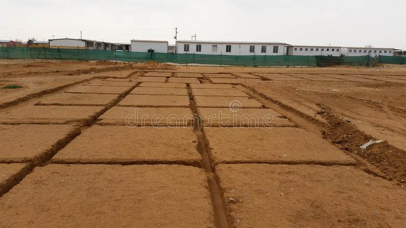 Foundation excavations stock images
