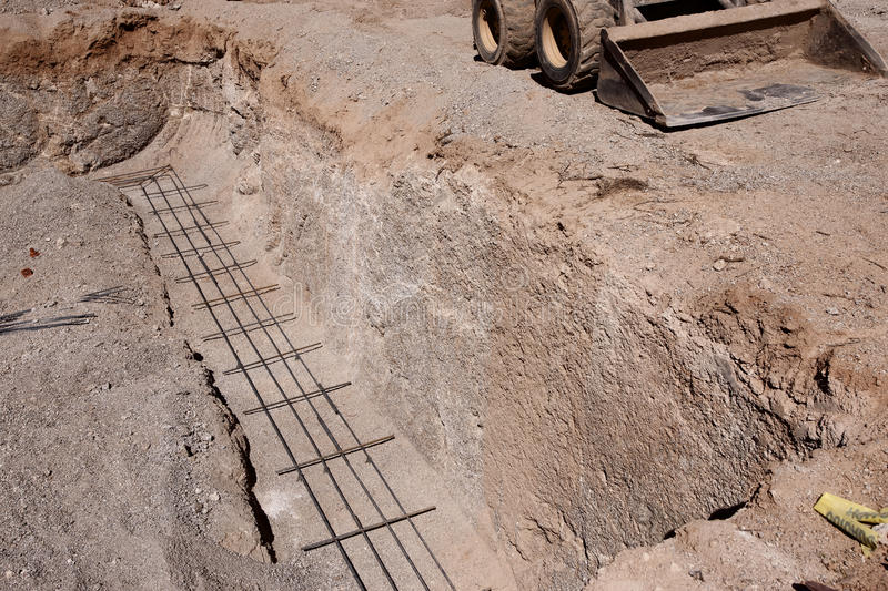 Download Foundation re-bar stock photo. Image of dirt, foundation - 13975090