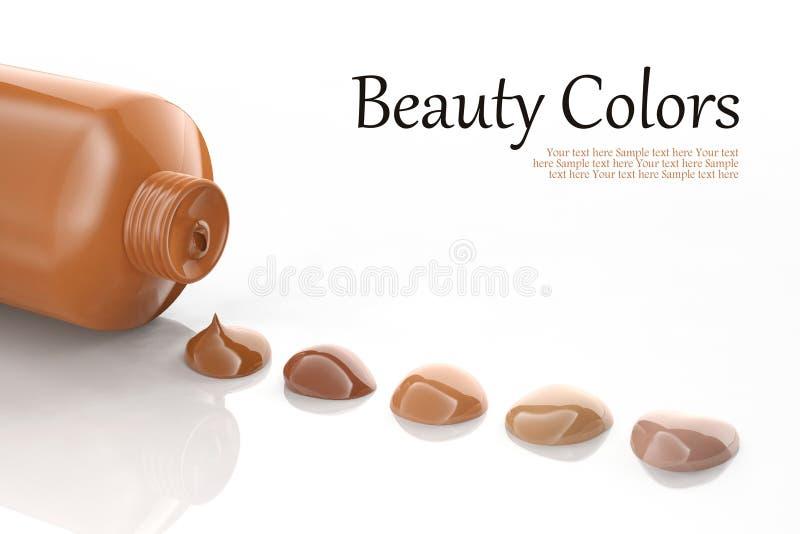 Foundation shades. On white background stock illustration