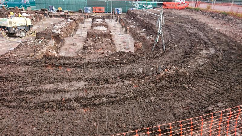 Building Site Foundations stock image