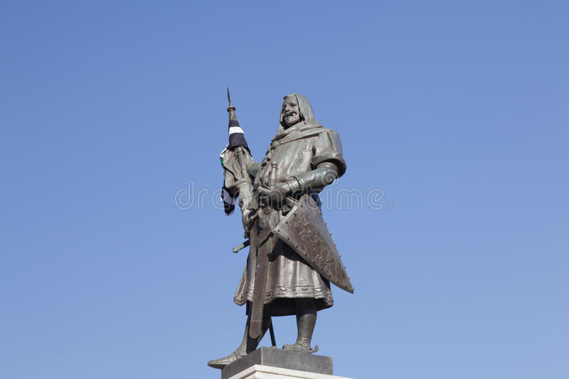 The founder of Valladolid stock photo
