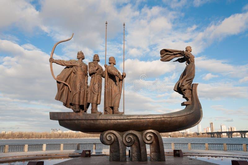 Founders of Kiev stock photo
