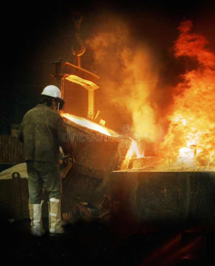 Foundry workman royalty free stock photography