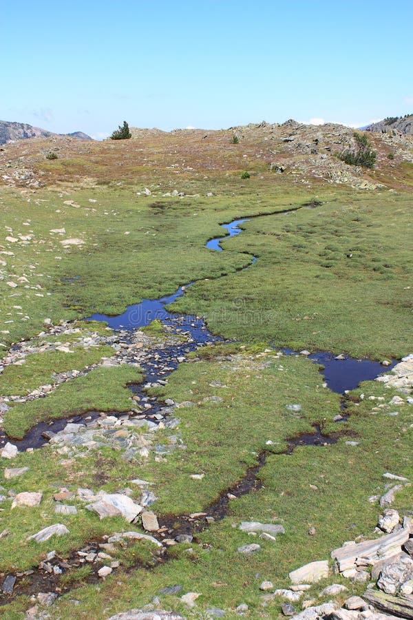 Fount в Capcir, orientales Пиренеи стоковое фото