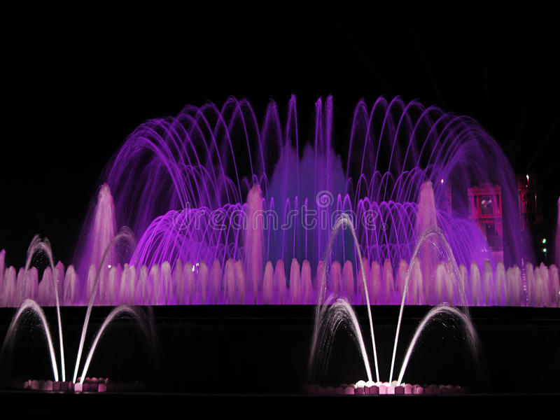 Download Fountain stock image. Image of purple, font, barcelona - 18658561