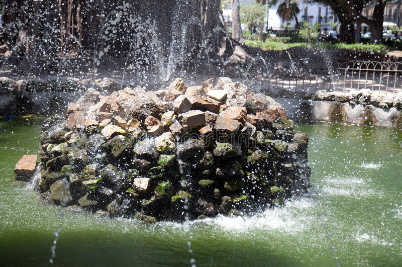 Download Fountain stock photo. Image of stones, fresh, water, grass - 20623232