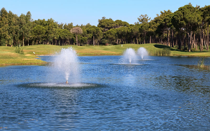 Download Fountain stock photo. Image of restaurant, lake, grass - 21003444