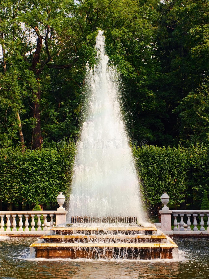 Download Fountain stock photo. Image of pyramid, petersburg, cascade - 21823724