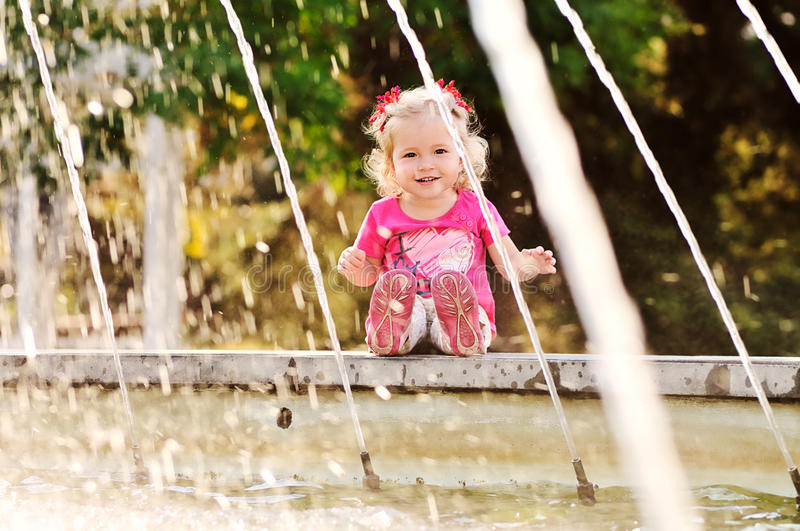 Download On the fountain stock image. Image of childhood, fountain - 28531805