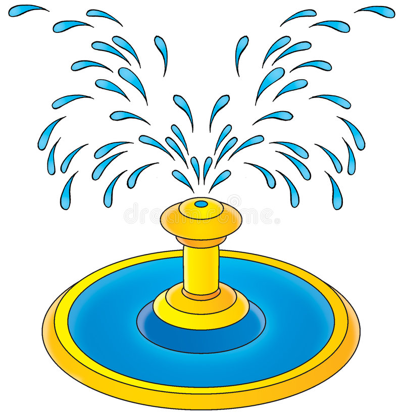 fountain stock illustration illustration of fountain 3103268 rh dreamstime com water fountain clipart water fountain clipart