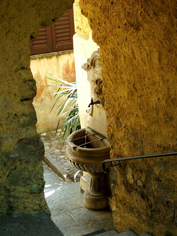 Download Fountain stock photo. Image of historic, passage, well, morcote - 38004