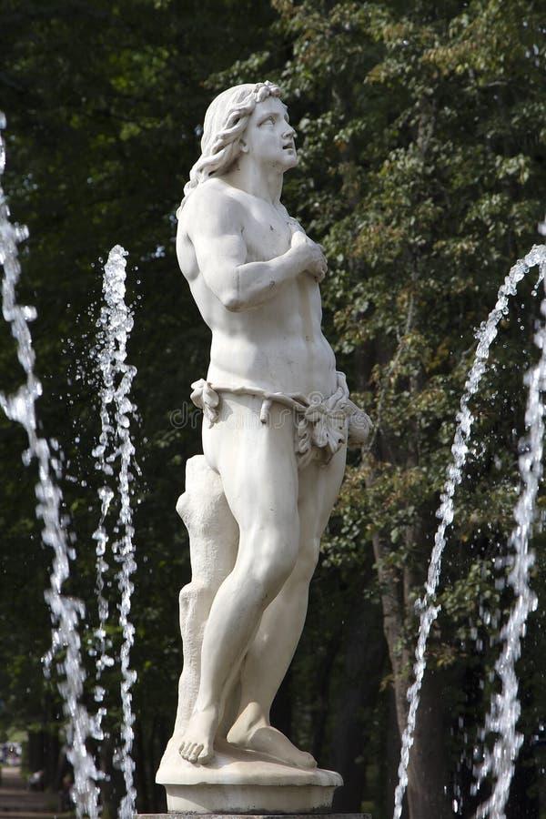 Fountain Adam royalty free stock photo