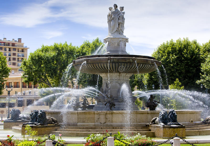 fountain in aix en provence stock photo image of statue. Black Bedroom Furniture Sets. Home Design Ideas