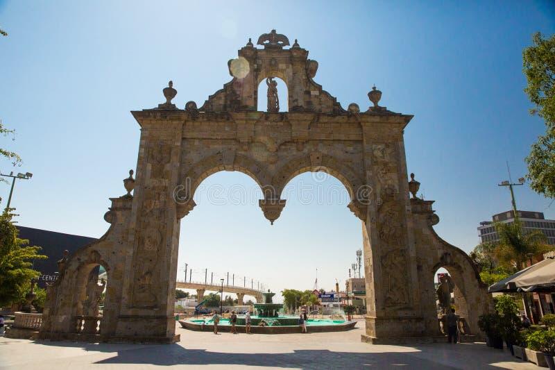 Arcos De Zapopan in Centro. A fountain at Arcos De Zapopan in Jalisco, Mexico stock images