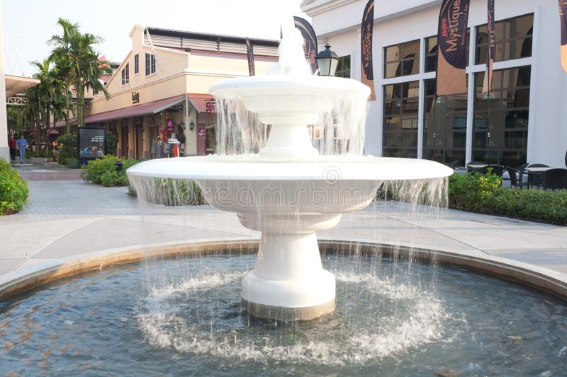 The fountain in Bangkok Thailand. Asiatique The Riverfront stock photos