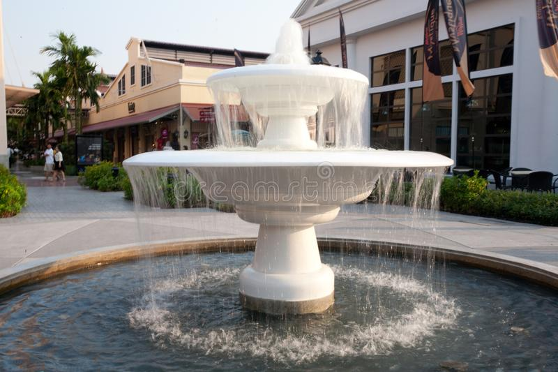 The fountain in Bangkok Thailand. Asiatique The Riverfront royalty free stock photo