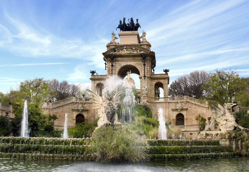 Fountain, Barcelona, Spain royalty free stock images