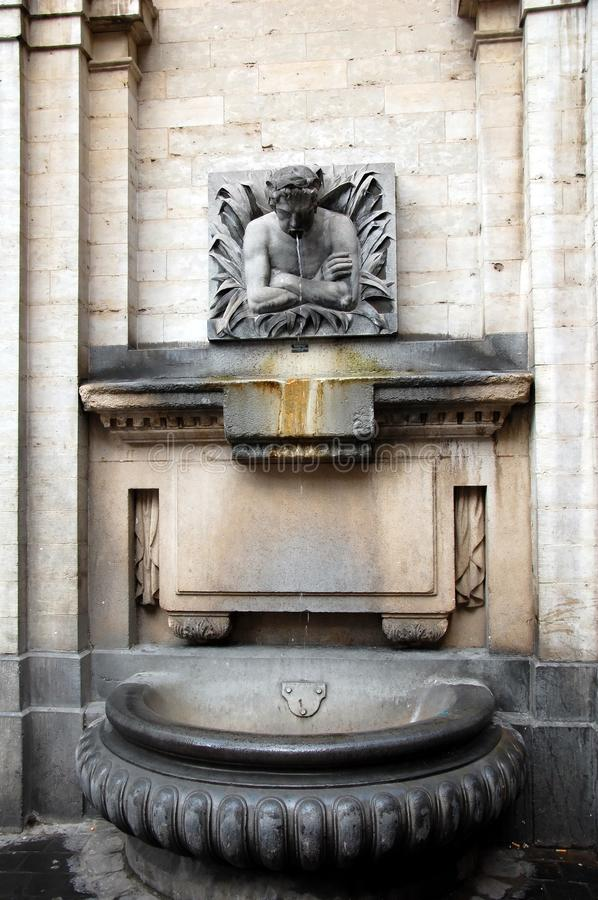 Fountain in Brussels royalty free stock photo