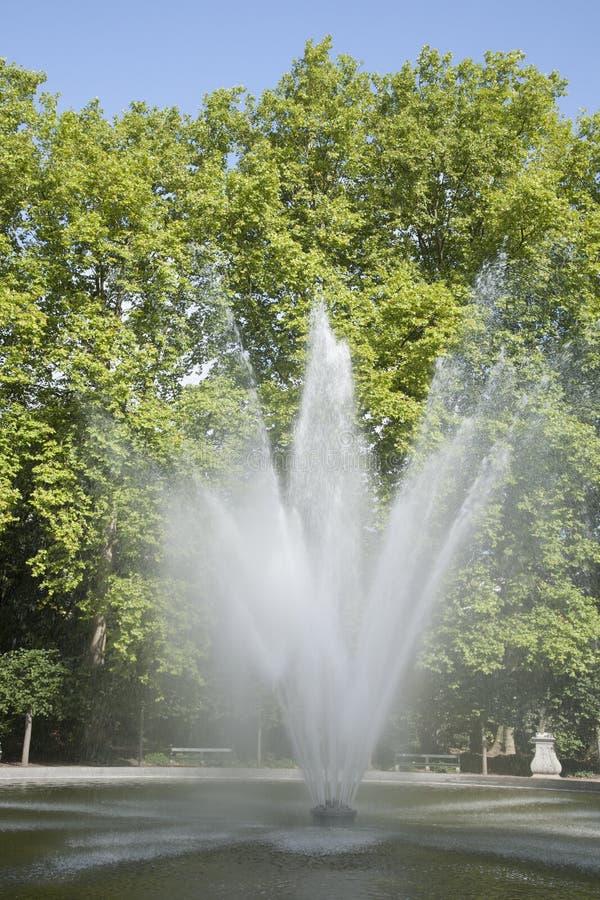 Fountain in Brussels Park - Parc de Bruxelles - Warandepark stock photo