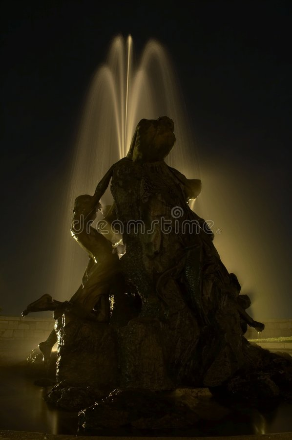 The fountain at the Buda Castle in Budapest. royalty free stock image
