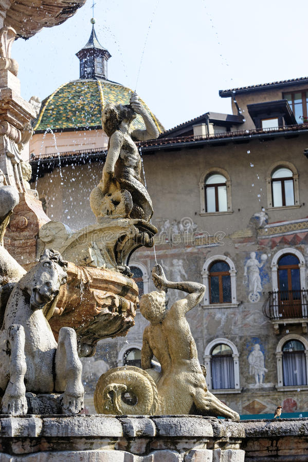 Download Fountain In The Cathedral Square Of Trento Stock Photography - Image: 26343652